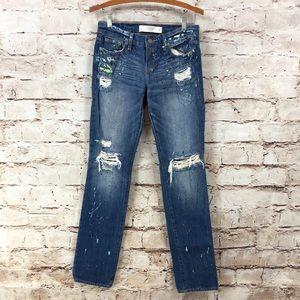 Abercrombie & Fitch Paint Splatter Jeans